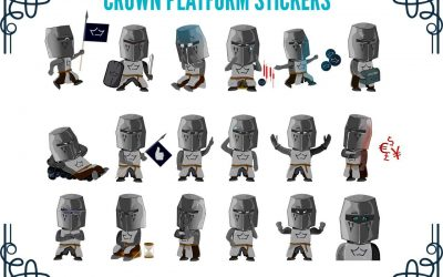 Stickers NFT para la comunidad Crown Platform